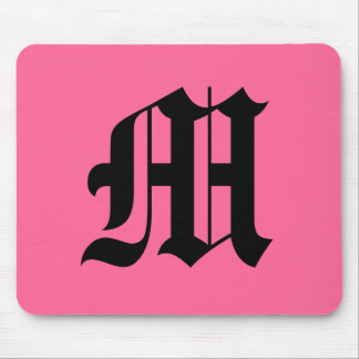 Pink Monogram Mouse Pad