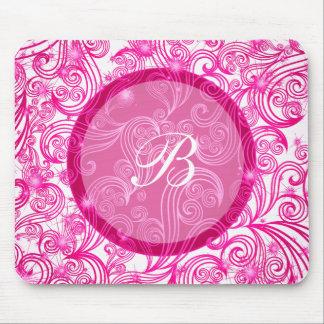Pink Monogram Mousepads