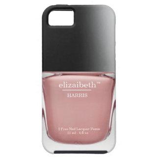 Pink Monogram Nail Polish Bottle iPhone Case
