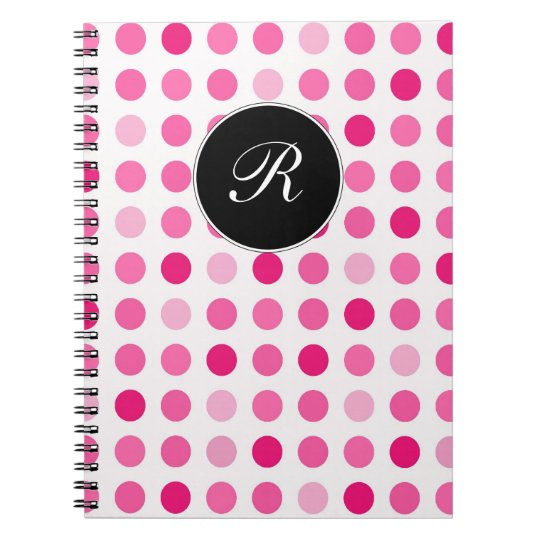 Pink Monogram Notebook Journal