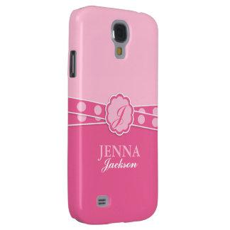 Pink Monogram Samsung Galaxy S4 Case