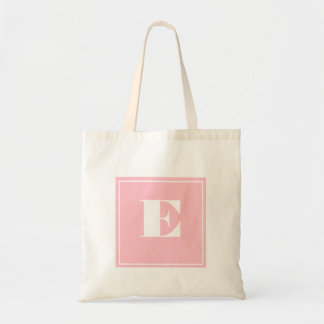 Pink Monogram Tote Bag