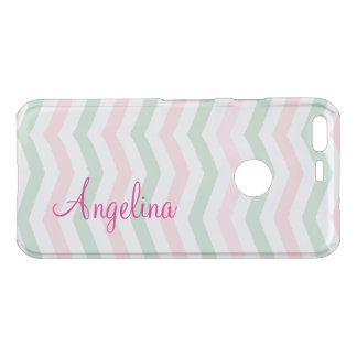 Pink Monogram Trendy Chevron Stripes Uncommon Google Pixel Case