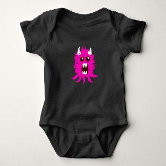Pink Monster Baby Bodysuit