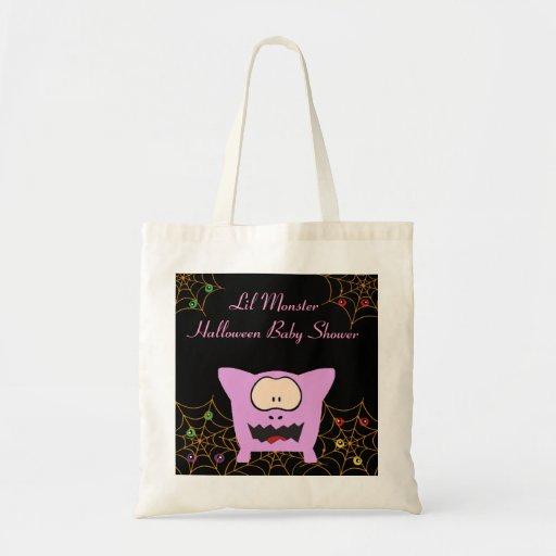 Pink Monster Baby Shower Tote Bag