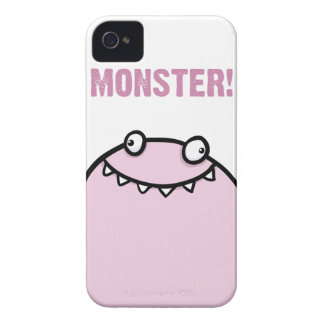 Pink Monster Funny Girls iPhone 4 Cover