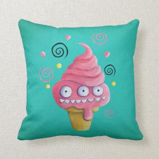 Pink Monster Ice Cream Cone Cushion