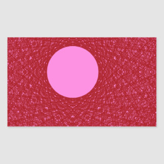 pink moon radiating red light abstract art stickers