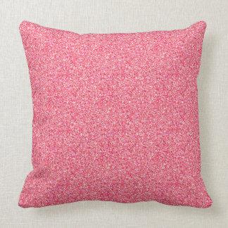 Pink Moondust Glitter Pattern Cushion