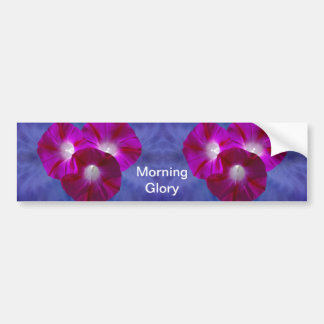 Pink Morning Glory Car Bumper Sticker