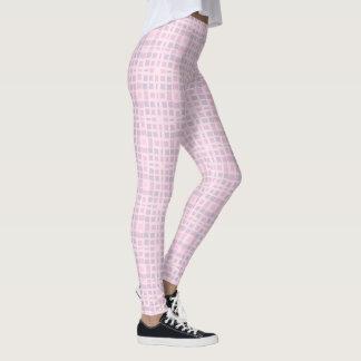 Pink Mosaic Pattern Leggings