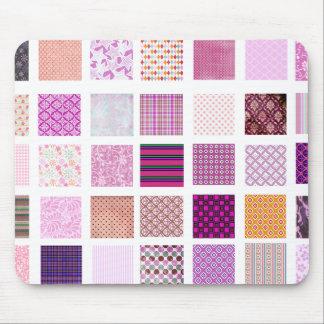 Pink Mosaic pattern Mouse Pad