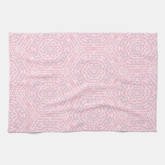 Pink Mosaic Pattern Tea Towel