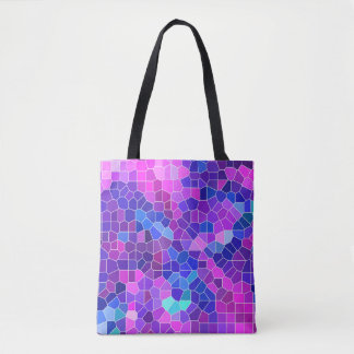 Pink Mosaic Tote Bag