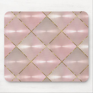 Pink Mother of Pearl with Gold Mouse Mat