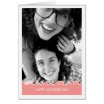 Pink Mothers Day Photo Love Mum Cut Out Text