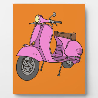 Pink Motor Scooter Display Plaques