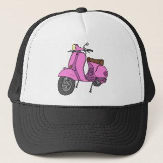 Pink Motor Scooter Trucker Hat
