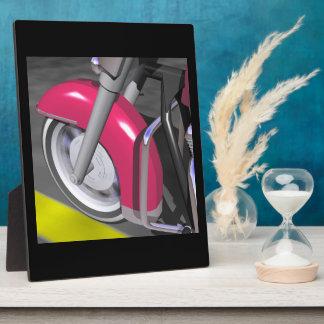 Pink Motorcycle Display Plaques