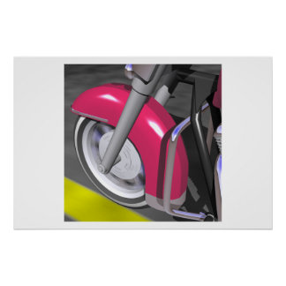 Pink Motorcycle Posters