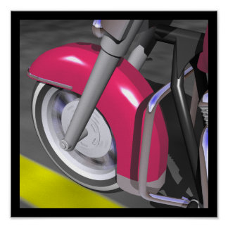 Pink Motorcycle Print