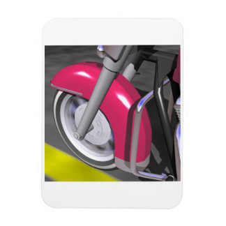 Pink Motorcycle Rectangle Magnets