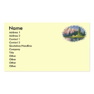Pink Mountain Business Card Template