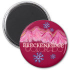 Pink mountains Breckenridge Colorado magnet