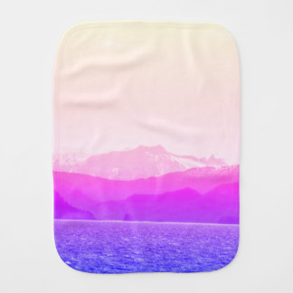 Pink Mountains Burp Cloth