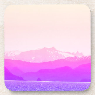 Pink Mountains Coasters