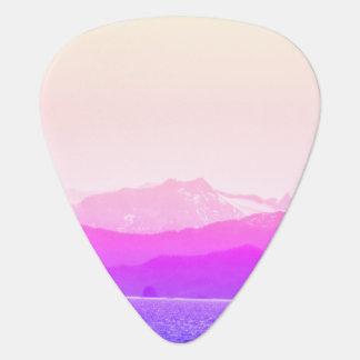 Pink Mountains Guitar Pick