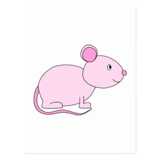 Pink Mouse. Postcard