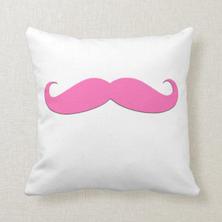 Pink Moustache Black Moustache Humor Newly Weds Cushion