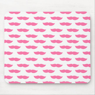 Pink Moustaches Mouse Pads