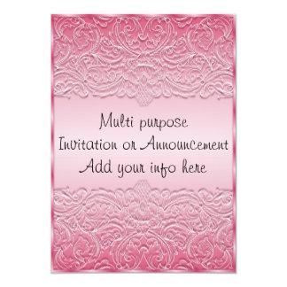 Pink Multi Purpose Invitation Announcement