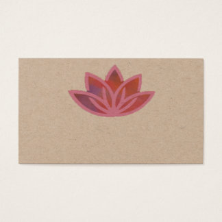 Pink Multicolor Lotus Business Card
