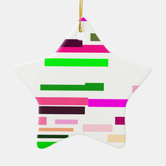 pink multicolor stripes with a white background christmas ornament