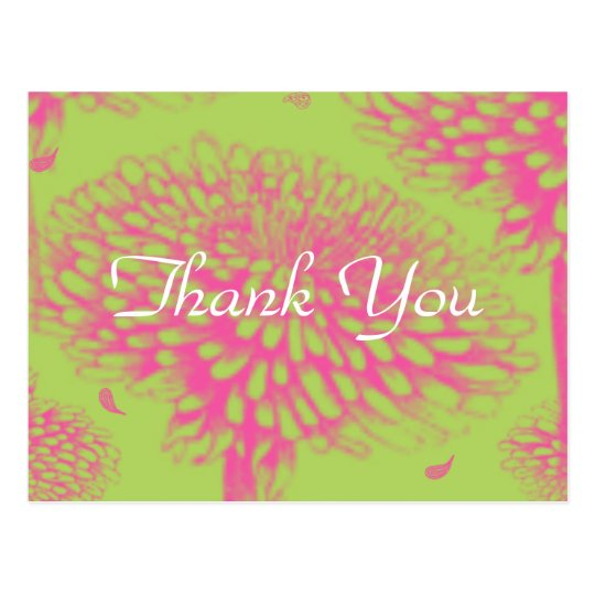 Pink Mum Thank You Postcard