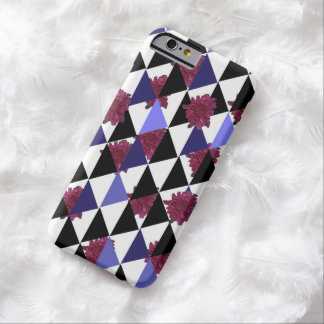 Pink Mums and Triangles by KCS iPhone Case Barely There iPhone 6 Case