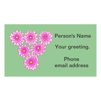 Pink Mums Flowers Chrysanthemums ID Cards Pack Of Standard Business Cards