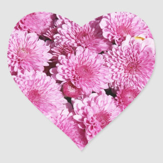 Pink mums heart sticker