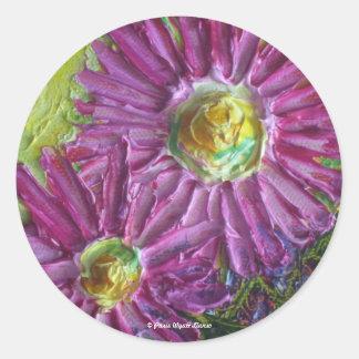 Pink Mums Sticker