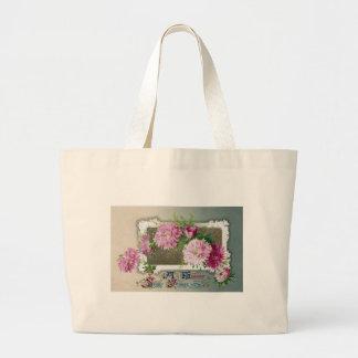 Pink Mums Vintage New Year Bag