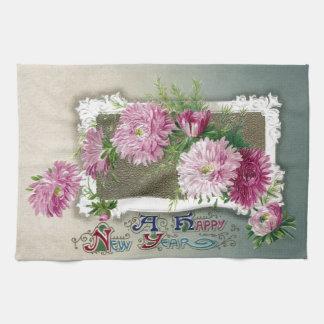 Pink Mums Vintage New Year Towels