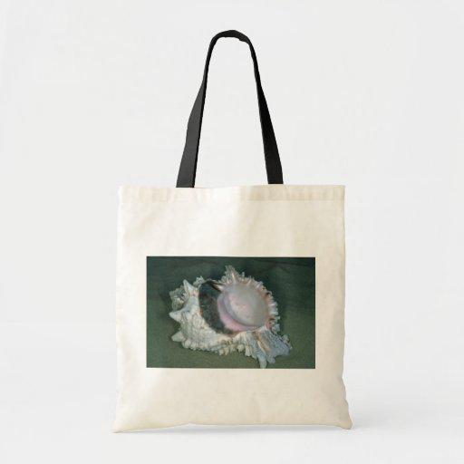 Pink murex (Murex erythrostomus) Shell Canvas Bags