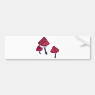 Pink Mushrooms Bumper Sticker