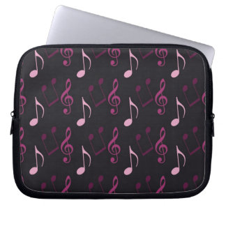 Pink Music Notes Laptop Sleeve