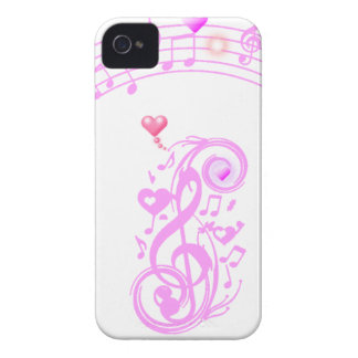 Pink,Music notes of Love_ iPhone 4 Cover