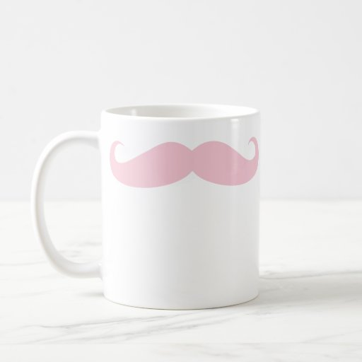 Pink Mustache Coffee Beverage Mug