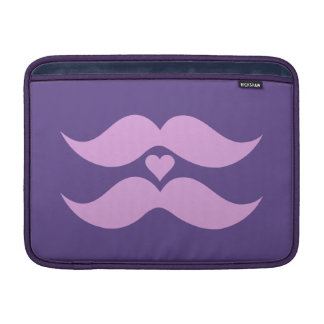"Pink Mustaches custom 13"" MacBook sleeve"